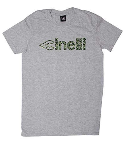 無傷子音背の高いcinelli(チネリ) コルクリボン カモフラージュ Tシャツ グレイ Mサイズ 605047-20001501