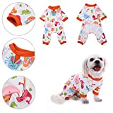 Pet Dog Mermaid Pattern Cotton Pajamas Leisure&Durable Pet Jumpsuit Pet Sleep Clothes Cozy Puppy Doggy Home Wear by Awtang S