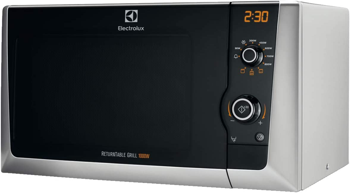 Electrolux EMS21400S Encimera - Microondas (Encimera, Microondas con grill, 21,23 L, 800 W, Botones, Giratorio, Plata)