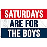 Aimto 3x5 FT Saturdays are for The Boys Flag - Bright Colors and Anti-Fading Materials - Male Fraternity Flags Polyester Canvas and Brass Buttonhole - Quality Assurance
