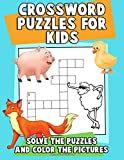 Crossword Puzzles for Kids: Solve the Puzzles and Color the Pictures: A Jumbo Children's Activity Book with Large Print Crossword Puzzles (puzzle books for kids ages 6-8, 9-12) (Volume 1)