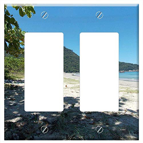 Switch Plate Double Rocker/GFCI - Two Rivers Ilha Grande Rio De Janeiro Rj Beach Sol