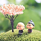 Buytra Miniature Fairy Garden Grandpa & Grandma Ornament Dollhouse Plant Pot Figurine DIY Outdoor Decor Home Decoration For Sale