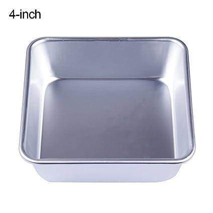 Bakeware - Molde cuadrado para tartas (aleación de aluminio, 4/6/8