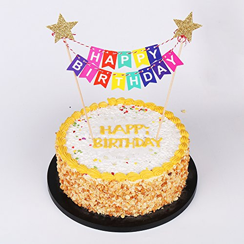 cake toppers qiynao mini happy birthday banner cake topper party
