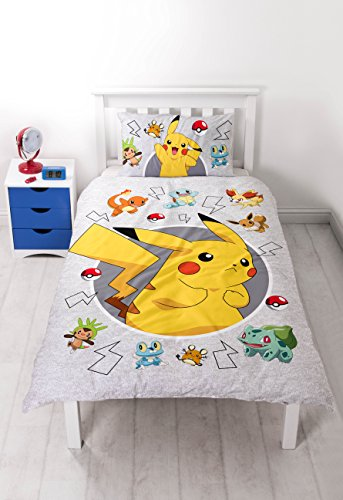 Pokemon Go Catch Single Duvet Cover Set Inc. Pillowcase (Pokemon Bedding Set)