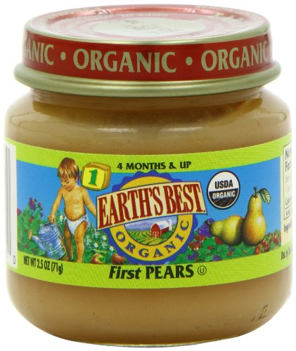 1st Balanced Stage (Earth's Best Organic Stage 1, First Pears, 2.5 Ounce (Pack of 12))