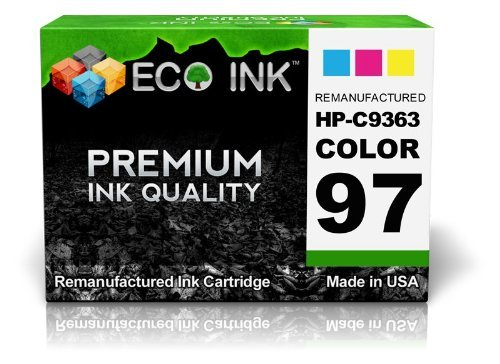 ECO INK © Compatible / Remanufactured for HP 97 C9363WN (1 Color) Ink Cartridges for HP PhotoSmart 2600, 335xi, 428, 8150xi, 2608, 337, 428v, 8157, 2610, 375, 428xi, 8158, 2610v, (C9363wn Color Ink)
