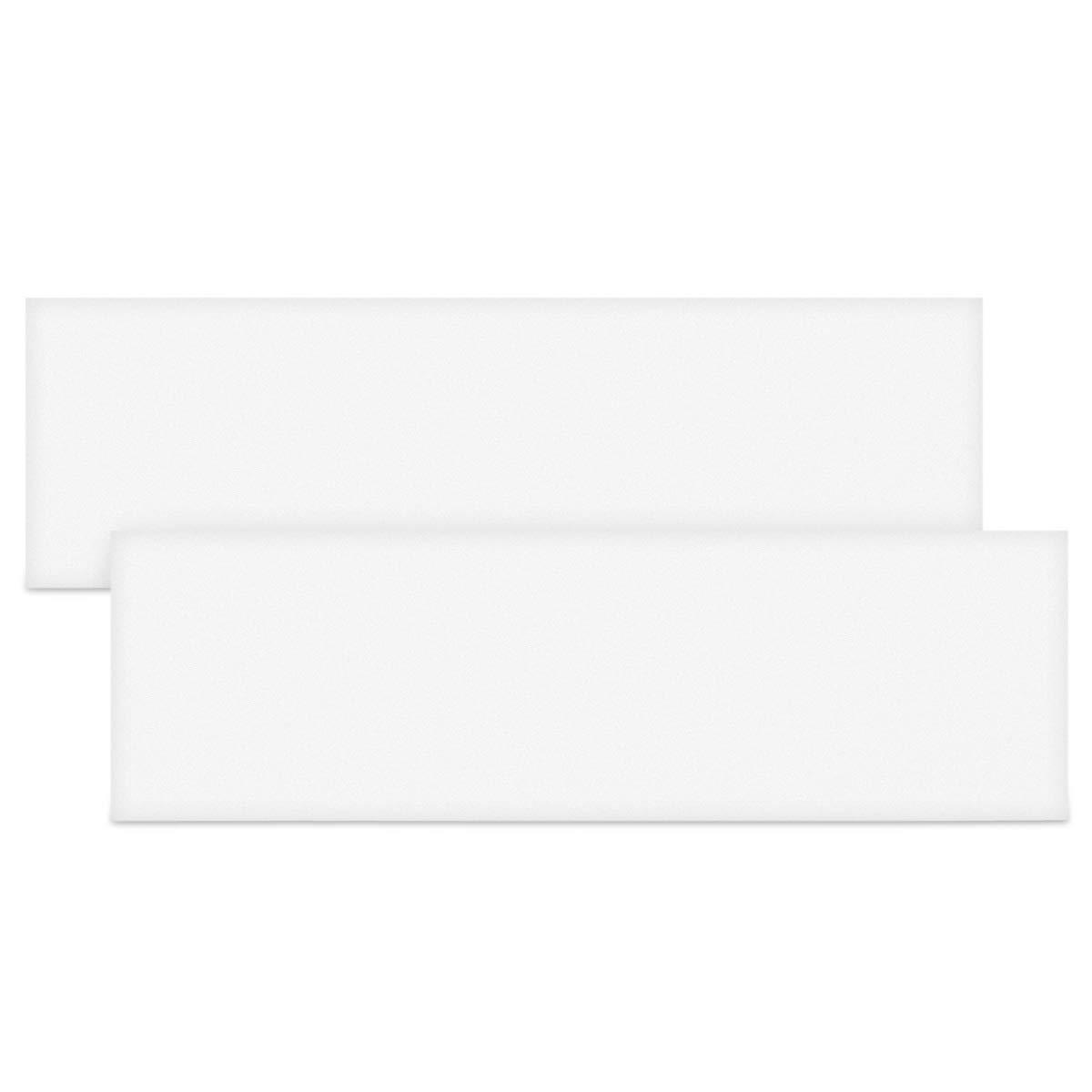 kwmobile Protector de Espuma para Pared de Garaje Parachoques 40 x 12 x 1.5 CM en Gris Set de 4 Protectores para Puerta de Coche