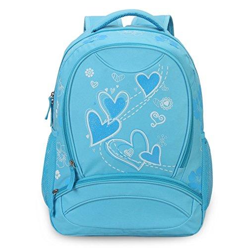 [Hynes Eagle Sweetheart Pattern Kids' Backpack (Blue)] (Sweetheart Girl)