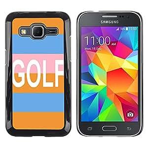 - Golf Ball Pattern - - Monedero pared Design Premium cuero del tir¨®n magn¨¦tico delgado del caso de la cubierta pata de ca FOR Samsung Galaxy Core Prime G360 G3608 G3606 Funny House