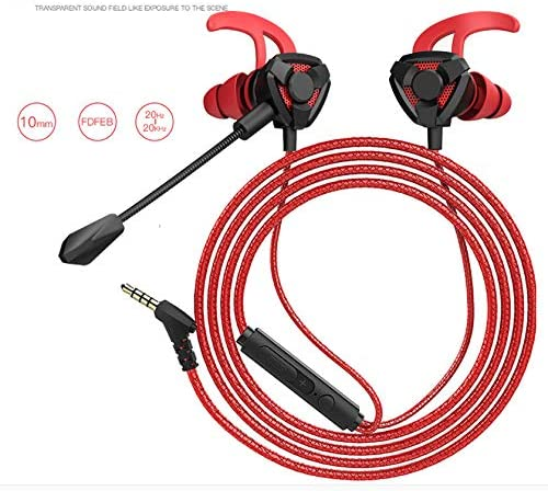 Metermall Gaming Earphone for Pubg PS4 CSGO Casque Games Headset 7.1 with Mic Volume Control PC Gamer Earphones G9 red