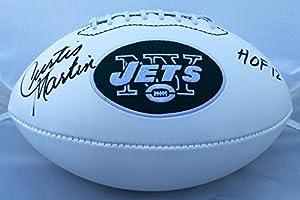 Curtis Martin Autographed Signed New York Jets Logo Football JSA