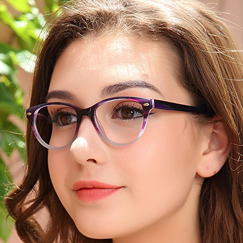 c1f6b7fd002 OCCI CHIARI Fashion Optical glasses Oval Acetate Eyewear Frame with Spring  Hinge and Clear Lens for