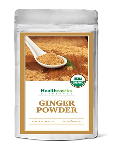 Healthworks Ginger Powder Raw Organic, 8oz