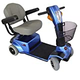 "Zip'r Mobility - Breeze - Travel Scooter - 4-Wheel - 18""W x 16""D Seat - Blue"