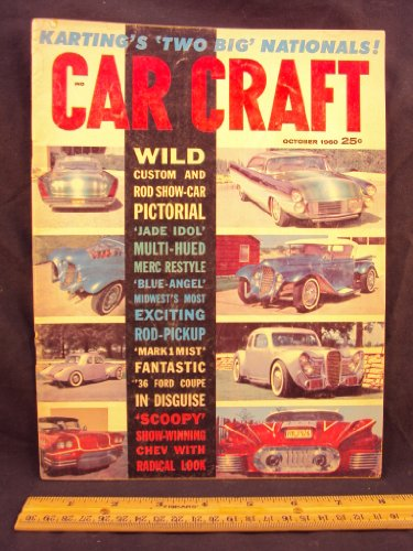 1960 60 October CAR CRAFT Magazine, Volume 8 Number # 6 (Features: Mark 1 Mist, They don't come much wilder than this early Ford Coupe / Give it Sparkel, Chromed bullets can be used to draw attetion to custom features) ()