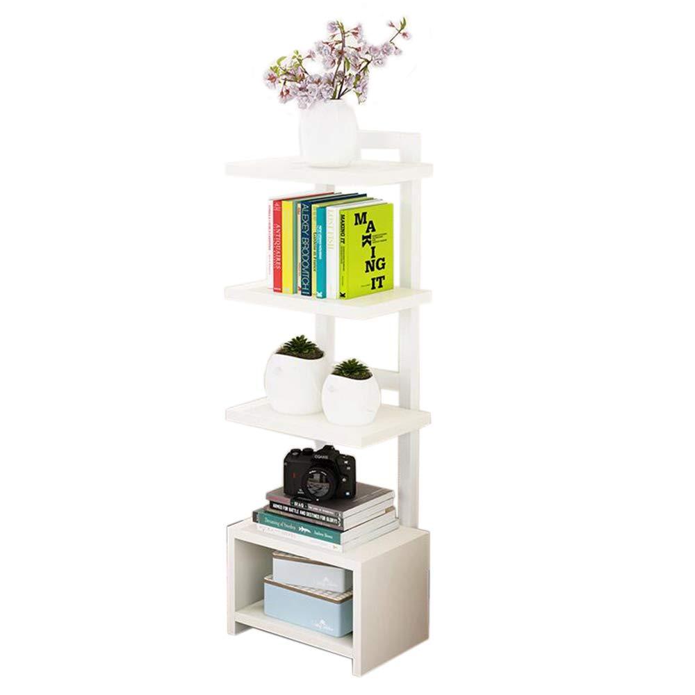 B1 JCAFA Shelves Wooden Bookcase Iron Art Multi-Layer Wooden Board Free Standing Shelf Floor-Standing Bookshelf Multi-color Optional (color   B1)