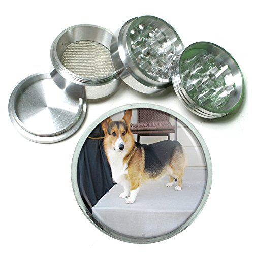 Dog Corgi 01 4Pc Aluminum Grinder by Perfection In Style