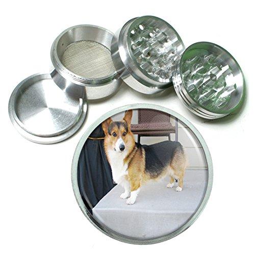 Dog Corgi 01 4Pc Aluminum Grinder