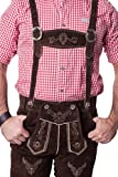 Lederhosen Leather Shorts Oktoberfest Trachten Bavarian Dark Brown Size 54