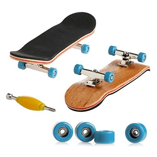 Delight eShop Professional Mini Fingerboards/ Finger Skateboard -1 Pack (Light Blue Bearing Wheels)