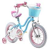 Royalbaby Star Girl's Kids Children Bike Bicycle, Blue, 12'