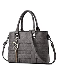 TIBES Designer Handbag for Women Ladies Handbags PU Leather Weave Shoulder Bag Women Top-Handle Purse