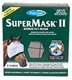 Central Garden & Pet 100504651 SuperMask II Horse Fly Mask, No Ears, XL - Quantity 12