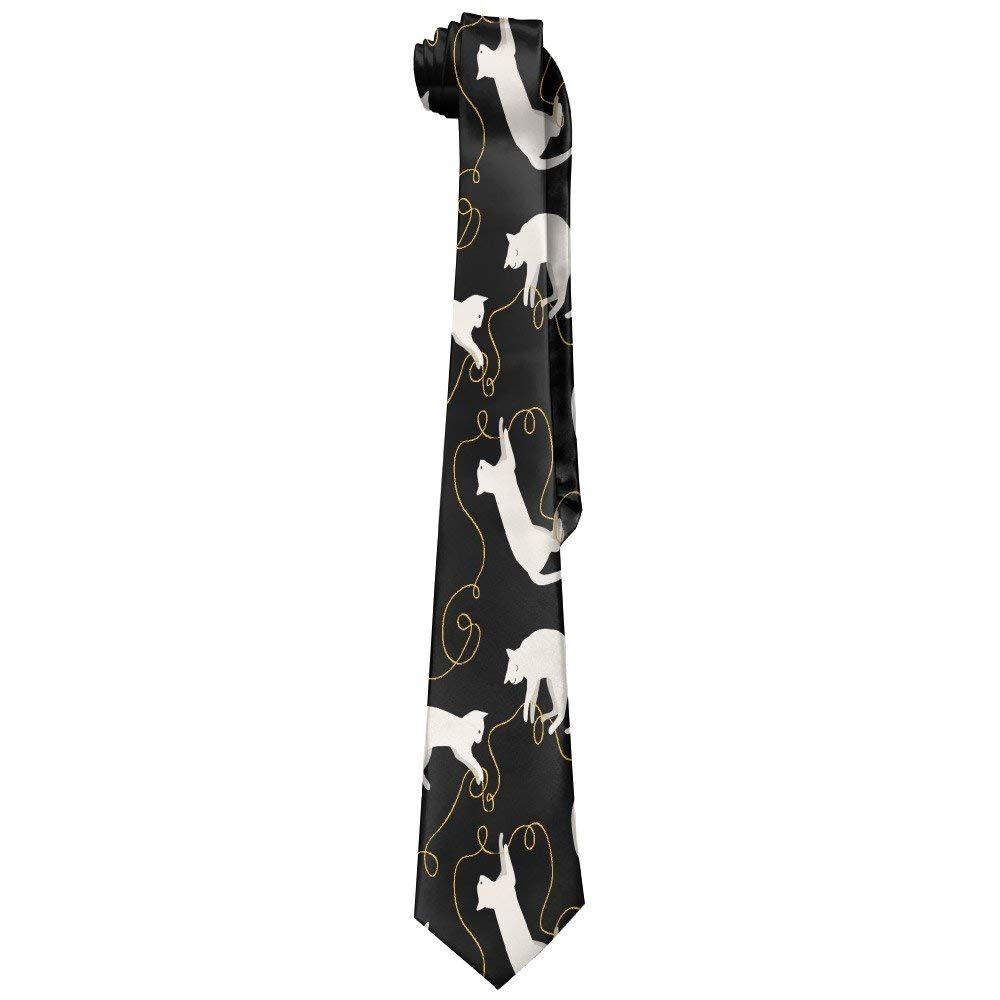 Jxrodekz Hipster Cat Corbata larga para hombre Corbata ajustada ...