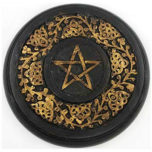 (Anya Nana Hand-Painted Wood Altar Pentacle 9