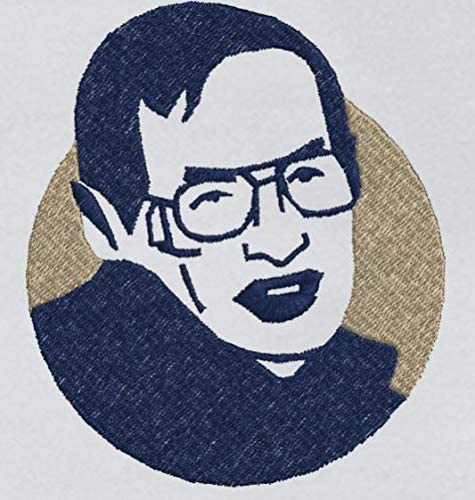 Sir Stephen William Hawking Detailed Sketch Embroidery Polo Tshirt