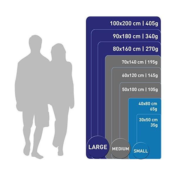 Fit-Flip Asciugamano in Microfibra – in Tutti i Colori, 8 Misure – Compatto & Ultraleggero – Microfibra Asciugamano – Il… 3 spesavip