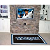 FANMATS MLB Toronto Blue Jays Nylon Face 5X8 Plush Rug
