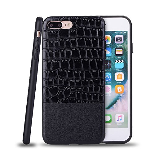 "HYAIT® For IPHONE 7 PLUS 5.5"" Case[Crocodile][Shockproof] Dual Layer Hybrid Armor Rugged Plastic Hard Shell Flexible TPU Bumper Protective Cover-BAN02"