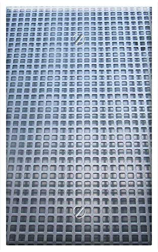 Single-Gang Blank Wall Plate Cover - Holes Sheet Perforated Sheet Grid Lines Squares
