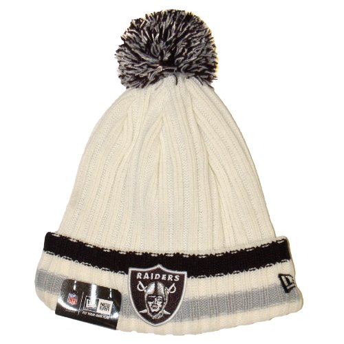 Oakland Raiders New Era NFL Yester-Year Cuffed Knit Hat (The Best Of Yesteryear)