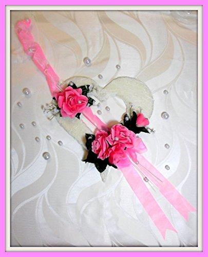 Tischdekoration Rosa Creme Tischdeko Hochzeit Kommunion Konfirmation