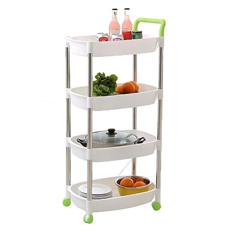 Amazon.com: YZJJ - Cesta de cocina, con ruedas para mover ...