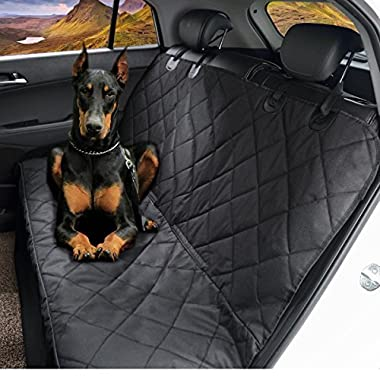Dog Seat Cover,EVELTEK Luxury Universal Pet Hammock Barriers X-Large 152x147cm /60 x58  Nonslip & Waterproof Car Travel Seat Covers,Protection for Back Seat,Fit for SUVs,Cars,Trucks & Vehicles-Black