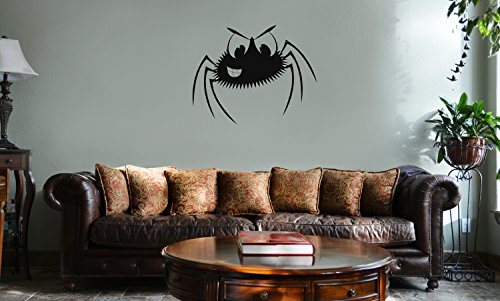 - DECAL SERPENT Smiling Spider Cartoon Funny Halloween Vinyl Wall Mural Decal Home Decor Sticker (BLACK)