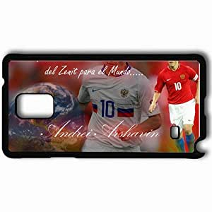Personalized Samsung Note 4 Cell phone Case/Cover Skin Andrei Andrei Arshavin Football Black