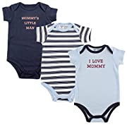 Luvable Friends Baby Sayings Bodysuit 3pk, Boy Mommy, 6-9 Months