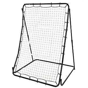 Adjustable Pitch Back Net Baseball and Softball Multi-Sport Rebounder Training Screen (Multi-Angle Adjustable)