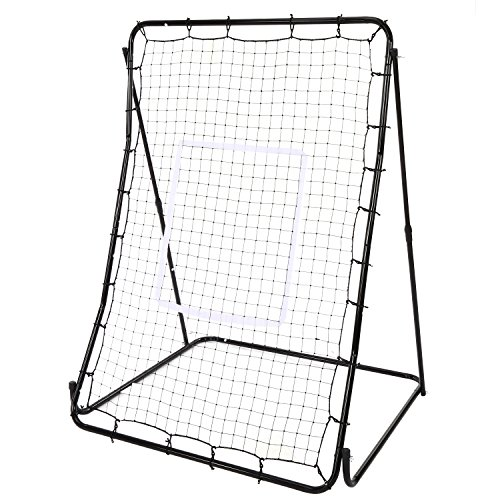 Etuoji Portable 44 x 64inch Height Adjustable Baseball / Softball / Lacrosse Rebounder Pitch Back Training Screen by Etuoji