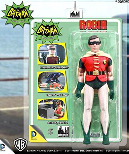 Batman Classic TV Series 8 Inch Action Figures Series 3: Robin With Removable Mask ()