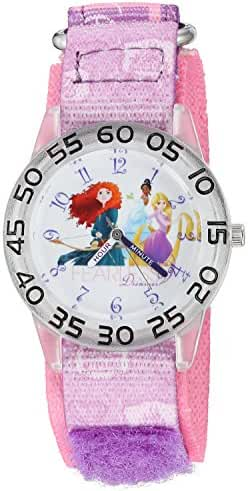 Disney The Princess & The Frog Kids' W002951 Rapunzel Analog Display Analog Quartz Purple Watch