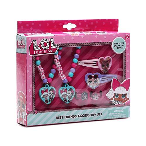 UPD L.O.L Surprise! Best Friends Accessory Set- Bracelets, Snap Clips & Rings LOL, Medium, Multicolor
