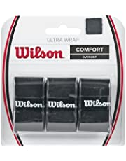 Wilson WRZ403000 Ultra Wrap Tennis Racket Over Grip, 3 Pieces, Black