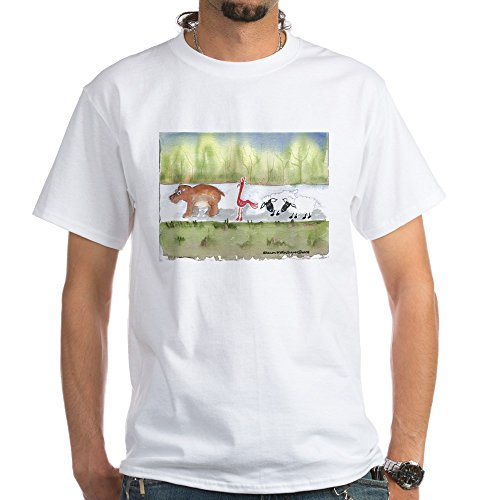 CafePress Hippo Birdie 2 Ewe White T-Shirt 100% Cotton T-Shirt, White ()